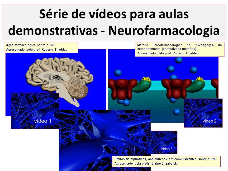 Série de vídeos para aulas demonstrativas - Neurofarmacologia Efeitos de hipnóticos, ansiolíticos e anticonvulsivantes sobre o SNC Apresentado pela pr