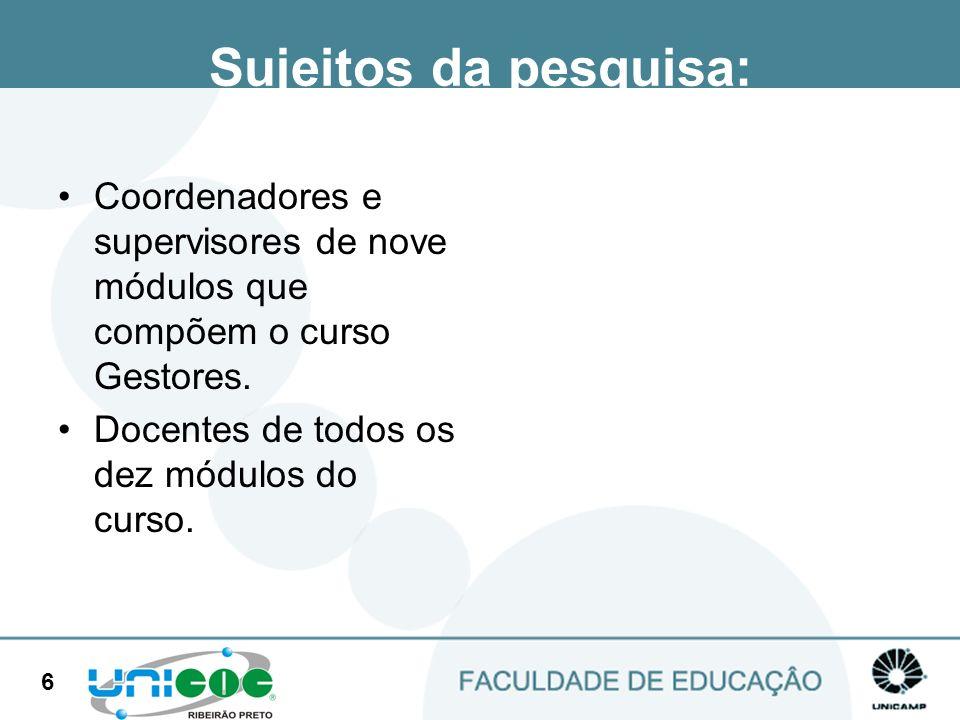 27 Limitações do curso O desenho da aprendizagem não foi feito de acordo com os interesses e objetivos dos alunos.