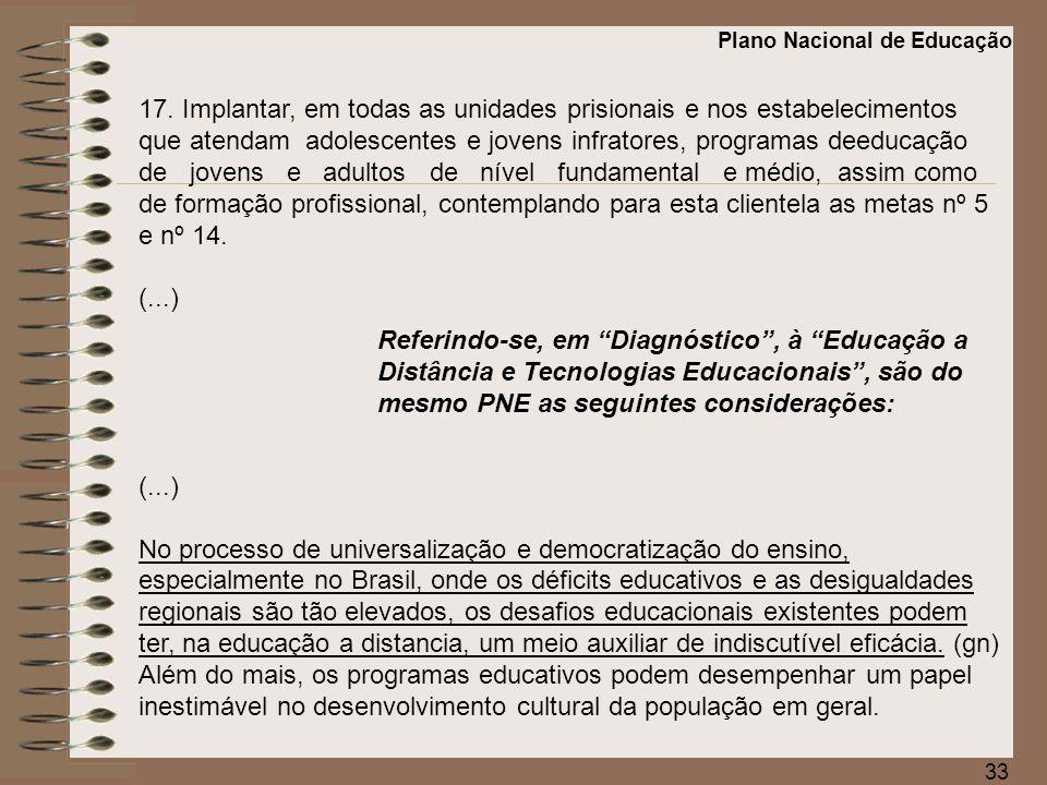 34 (...) Ao introduzir novas concepções de tempo e espaço na educação, a educação a distância tem função estratégica: contribui para o surgimento de mudanças significativas na instituição escolar e influi nas decisões a serem tomadas pelos dirigentes políticos e pela sociedade civil na definição das prioridades educacionais.