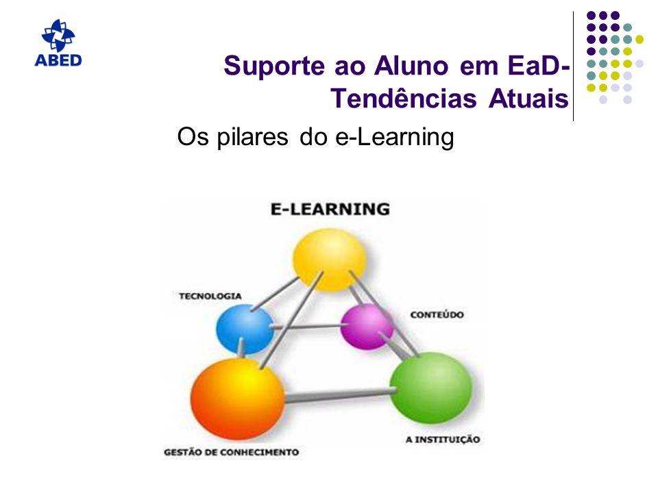 Suporte ao Aluno em EaD- Tendências Atuais Os pilares do e-Learning