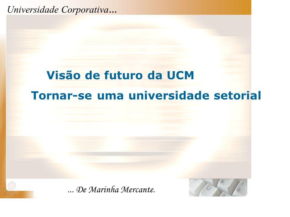 Universidade Corporativa...... De Marinha Mercante. Visão de futuro da UCM Tornar-se uma universidade setorial