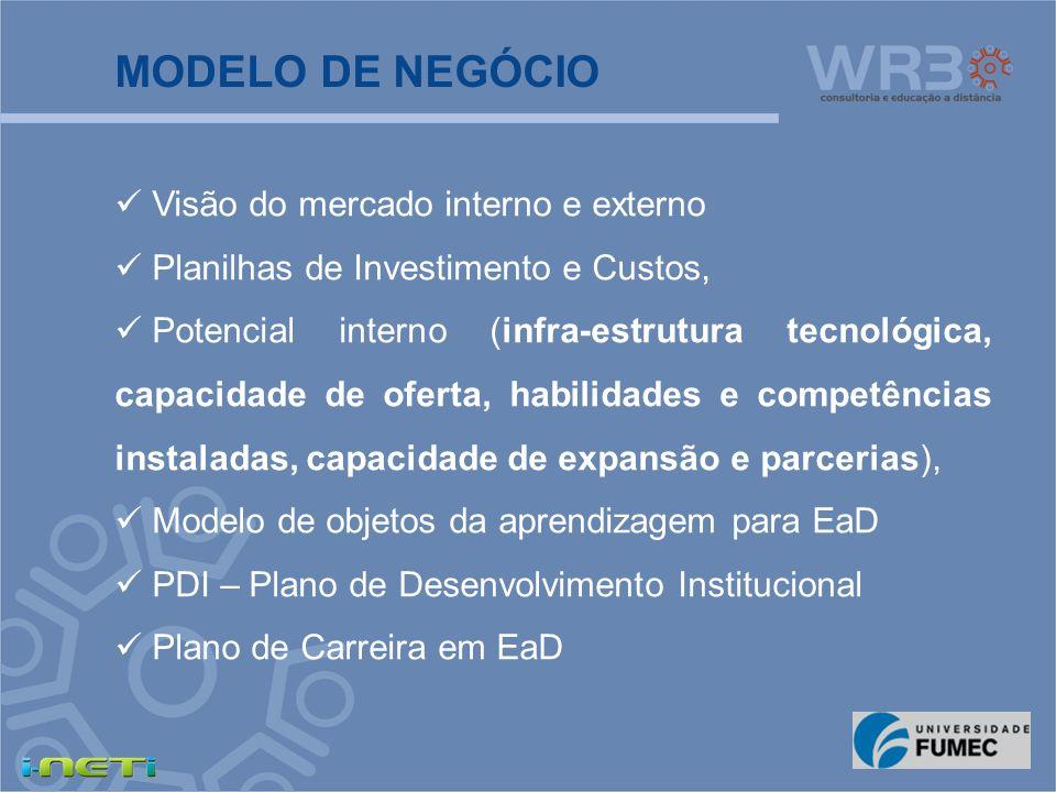 É o modelo de referência para os demais e estabelece princípios e parâmetros para: Projeto de EaD, Projeto Pedagógico ou Andragógico Plano de formação