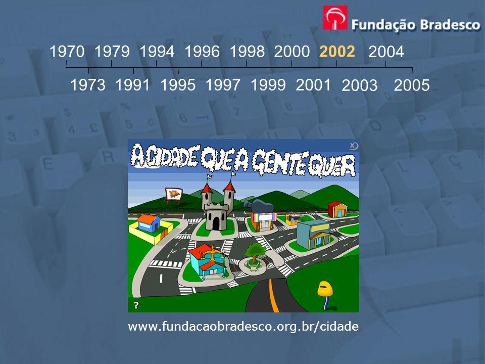 www.fundacaobradesco.org.br/cidade 1970 1973 1979 1991 1994 1995 1996 1997 1998 1999 2000 2001 2002 2003 2004 2005