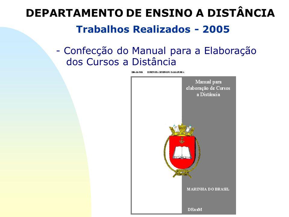 Trabalhos Realizados - 2005 - Confecção do Manual para a Elaboração dos Cursos a Distância DEPARTAMENTO DE ENSINO A DISTÂNCIA