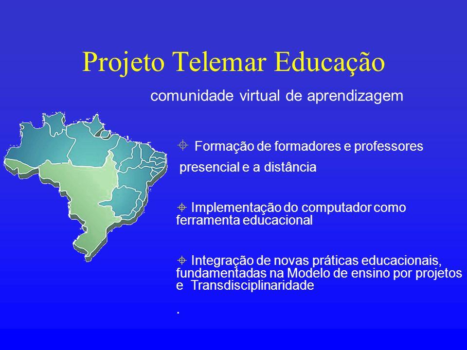 Projeto Telemar Educação Formação de formadores e professores presencial e a distância Implementação do computador como ferramenta educacional Integra