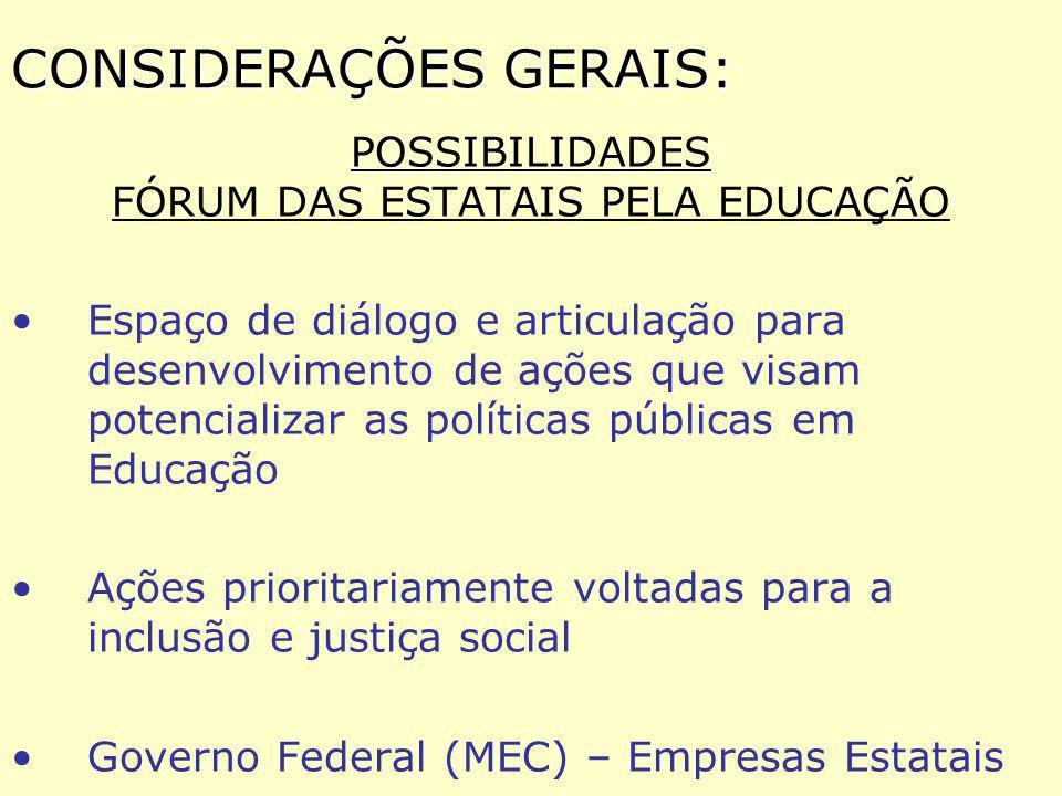 2) Organização de consórcios estaduais de universidades : * responsabilização prioritária dos Poder Público Estadual na consolidação de um Centro Estadual de Tecnologias Educacionais (CETE), que deverão prover as tecnologias de acesso, mediante o estabelecimento e a manutenção de uma rede multimídia