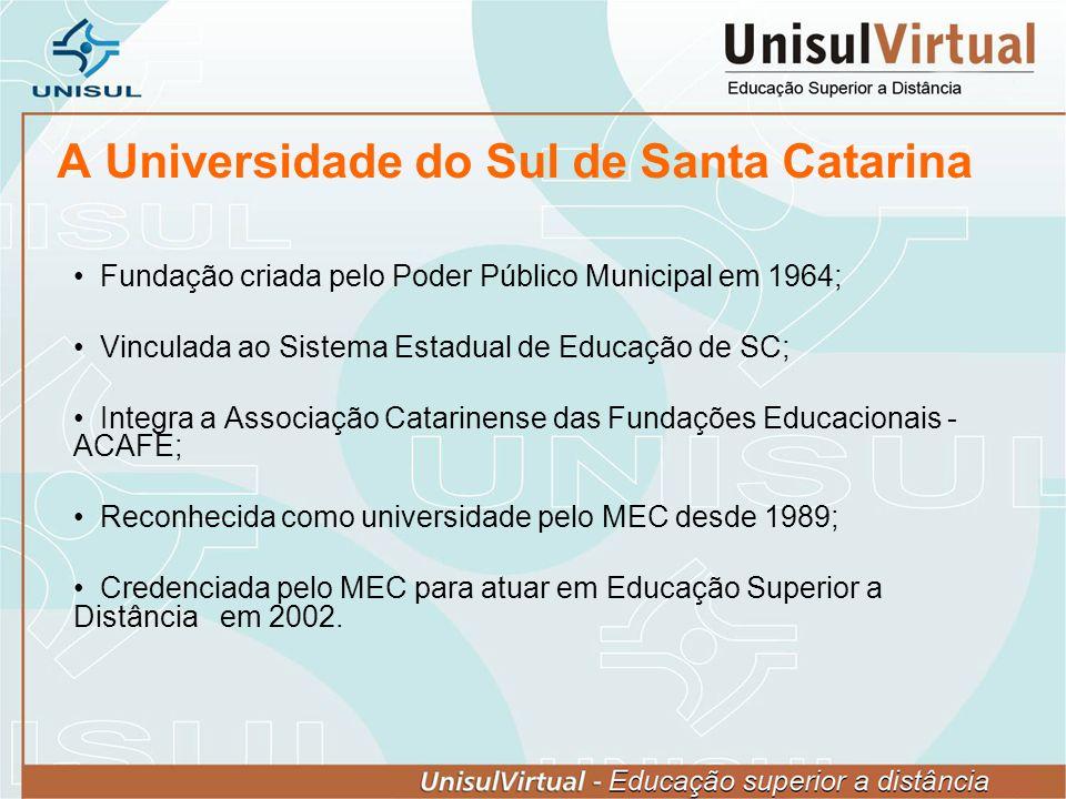 Fundação criada pelo Poder Público Municipal em 1964; Vinculada ao Sistema Estadual de Educação de SC; Integra a Associação Catarinense das Fundações