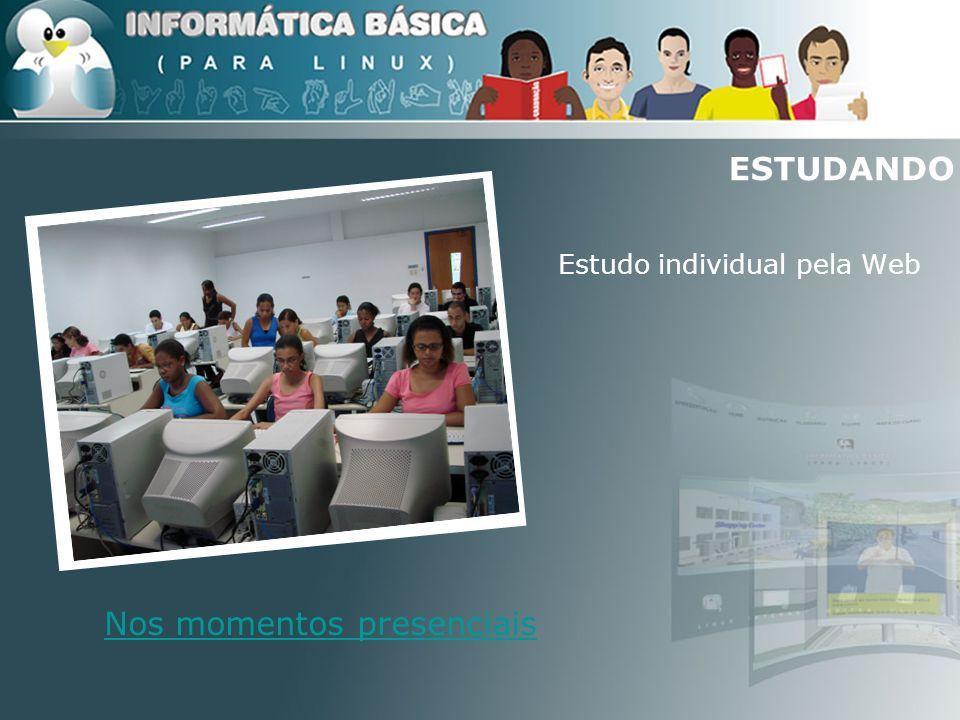 ESTUDANDO Estudo individual pela Web Nos momentos presenciais
