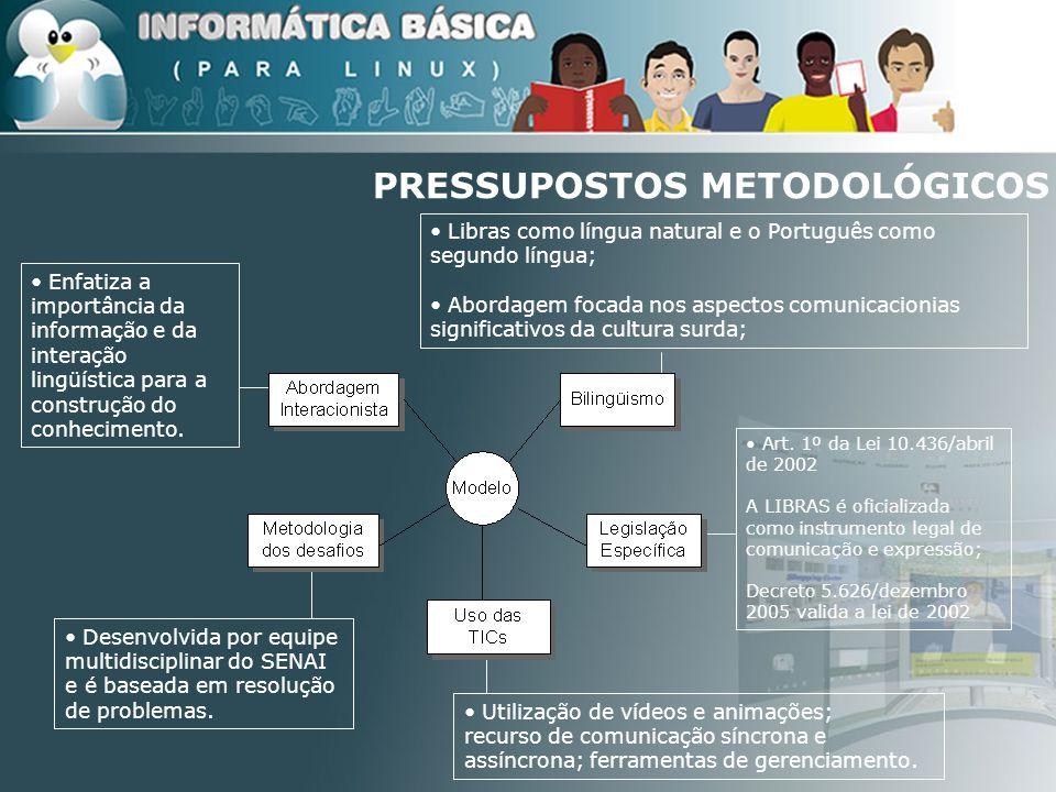 Enfatiza a importância da informação e da interação lingüística para a construção do conhecimento. Desenvolvida por equipe multidisciplinar do SENAI e