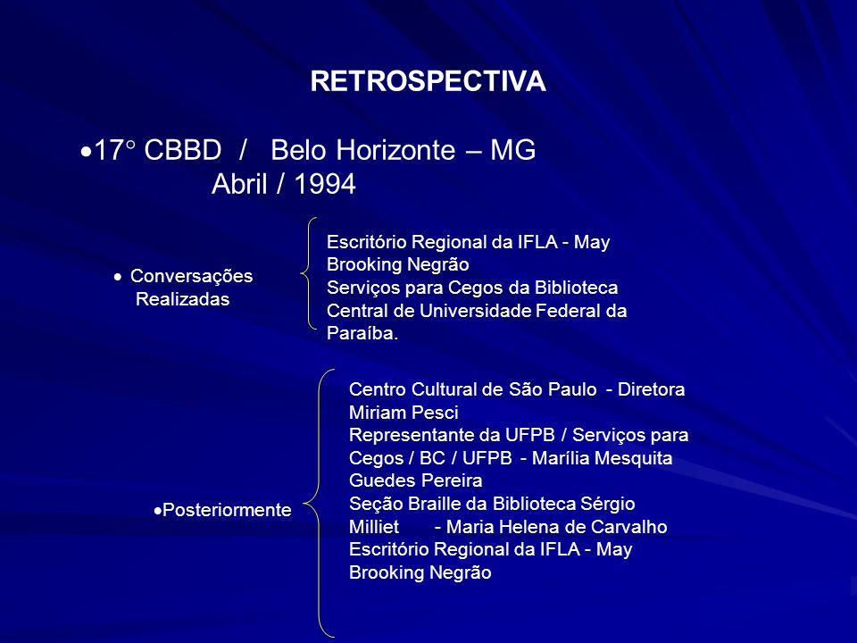 Escritório Regional da IFLA - May Brooking Negrão Serviços para Cegos da Biblioteca Central de Universidade Federal da Paraíba. Centro Cultural de São