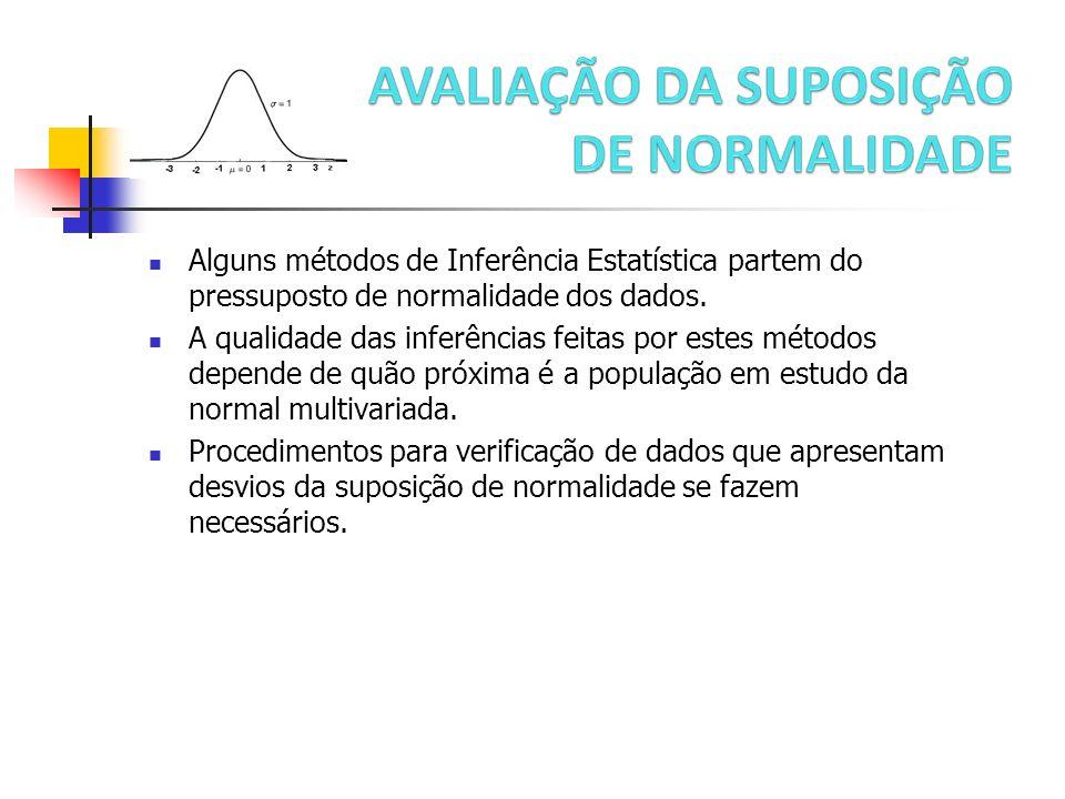 Transformações de normalização Com observações multivariadas uma transformação de potência deve ser usada para cada componente do vetor de observações.