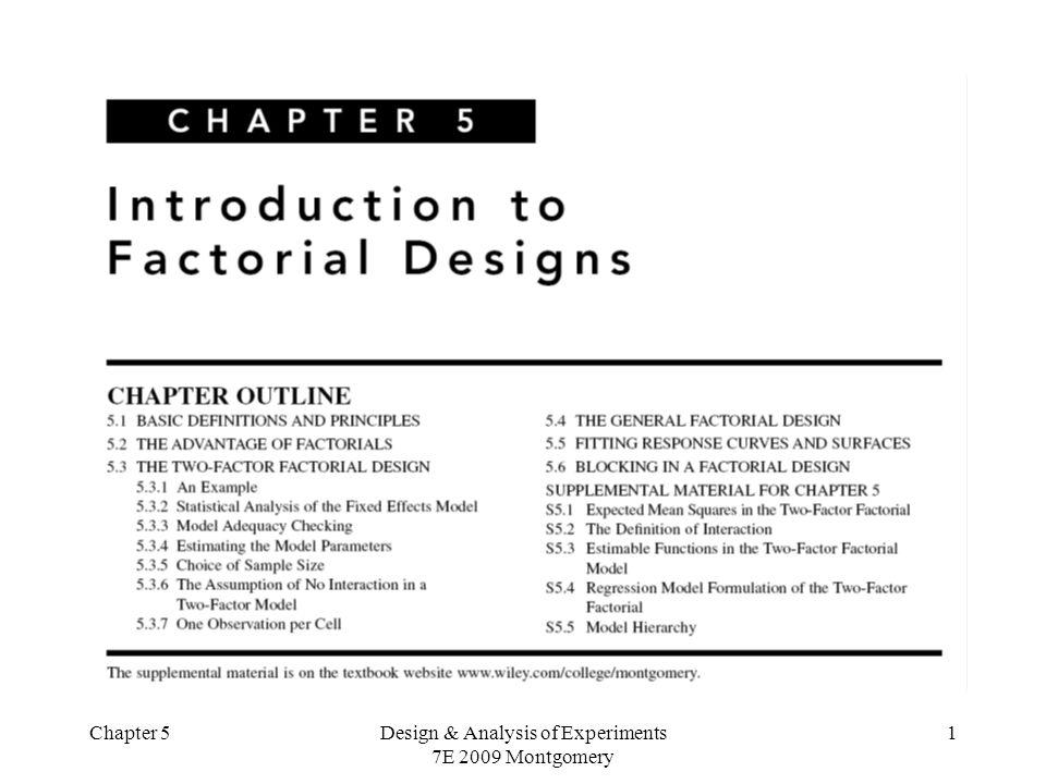 Chapter 5Design & Analysis of Experiments 7E 2009 Montgomery 22 Teste de Tukey para verificação da presença de interação a hipótese de nenhuma interação deve ser rejeitada.