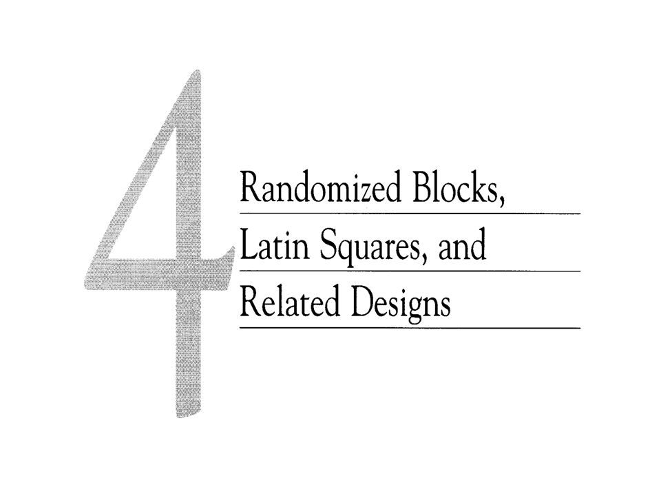 4.1 Experimento em bloco completamente aleatorizado (RCBD)