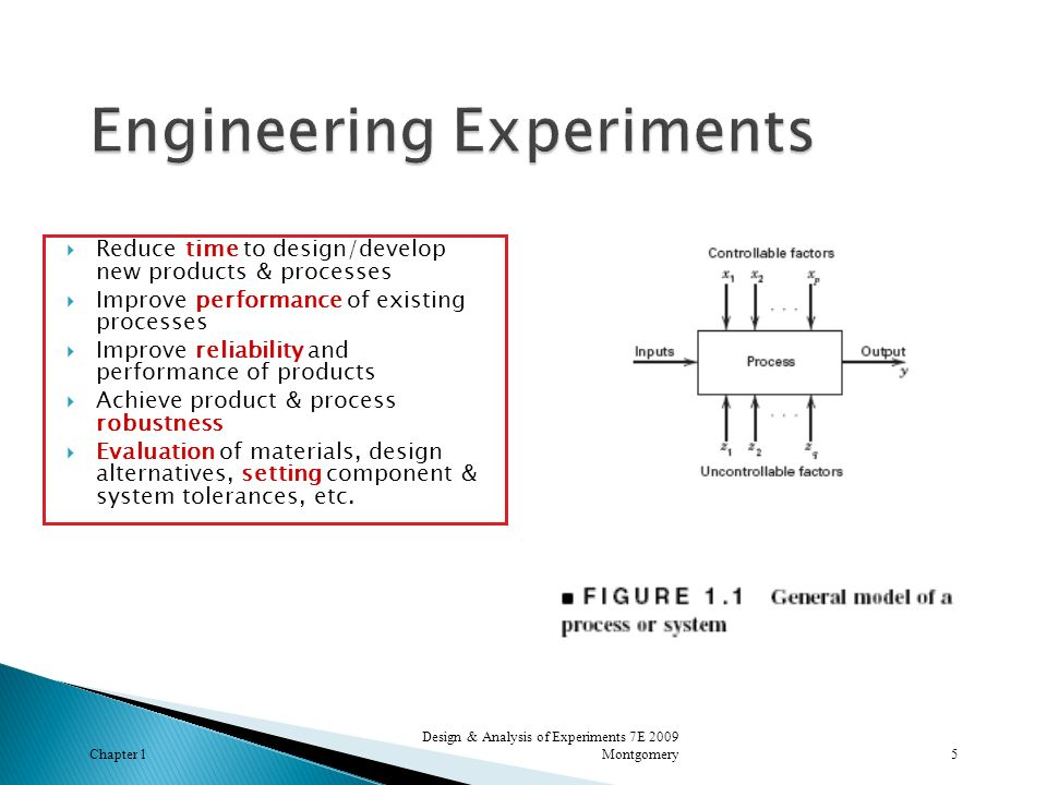 Chapter 1 Design & Analysis of Experiments 7E 2009 Montgomery16
