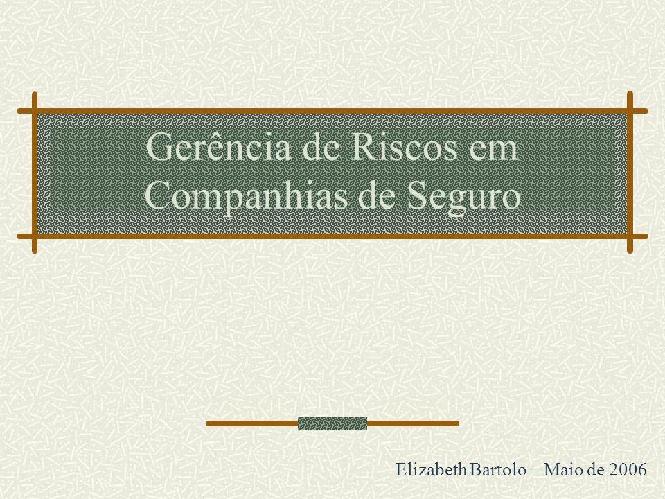 Gerência de Riscos em Companhias de Seguro Elizabeth Bartolo – Maio de 2006