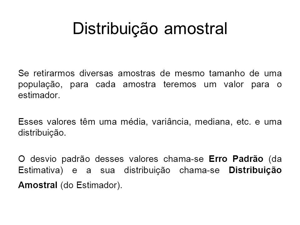 No problema do epidemiologista, a distribuição das caras e coroas é uma distribuição amostral.