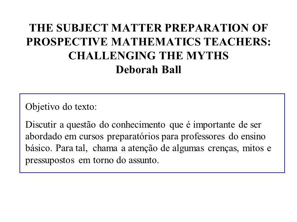 Conhecimento de divisão em Equações Algébricas Suponha que um aluno peça ajuda no seguinte exercício: x/0.2 = 5 então x =...
