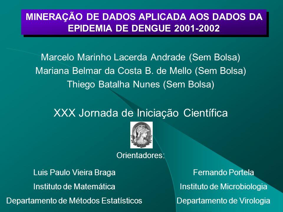 Marcelo Marinho Lacerda Andrade (Sem Bolsa) Mariana Belmar da Costa B. de Mello (Sem Bolsa) Thiego Batalha Nunes (Sem Bolsa) XXX Jornada de Iniciação
