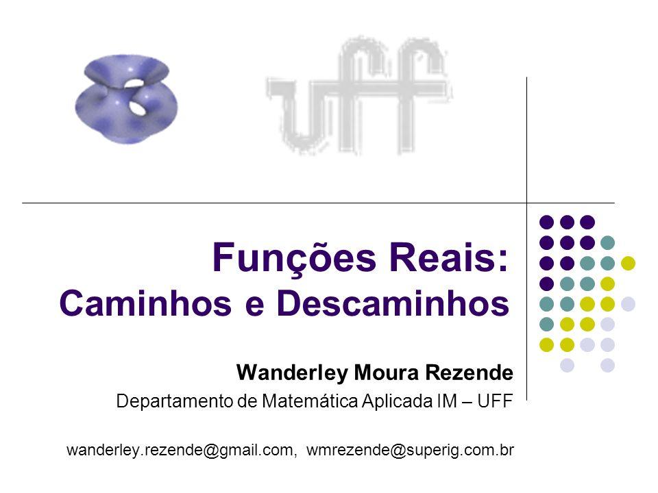 Funções Reais: Caminhos e Descaminhos Wanderley Moura Rezende Departamento de Matemática Aplicada IM – UFF wanderley.rezende@gmail.com, wmrezende@supe