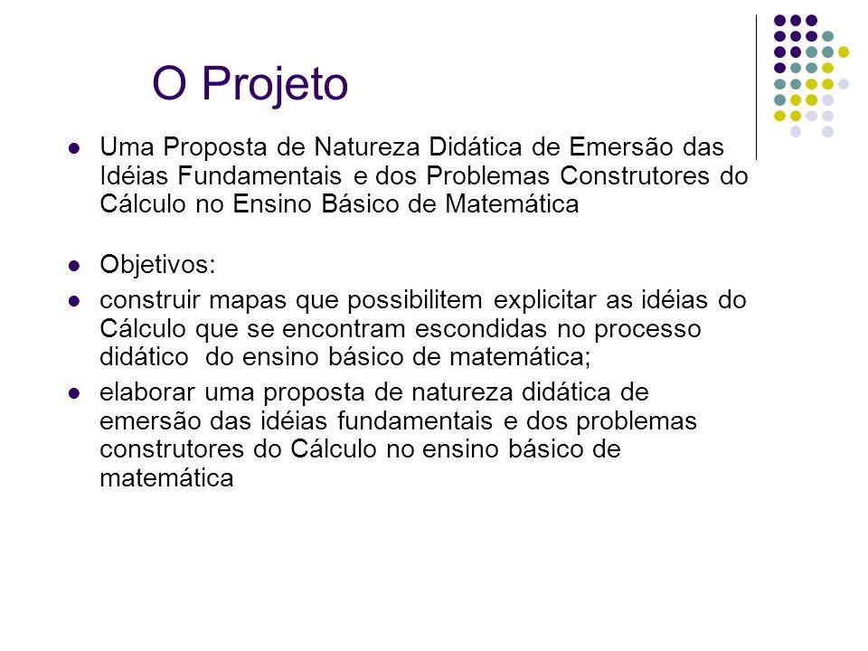O Projeto Uma Proposta de Natureza Didática de Emersão das Idéias Fundamentais e dos Problemas Construtores do Cálculo no Ensino Básico de Matemática