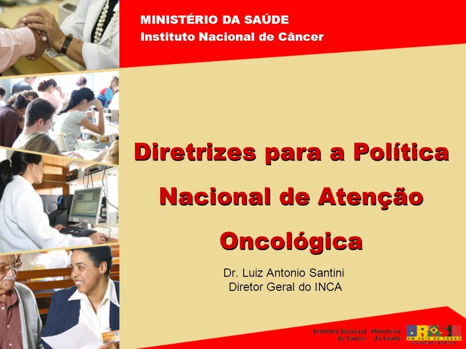 Dr. Luiz Antonio Santini Diretor Geral do INCA MINISTÉRIO DA SAÚDE Instituto Nacional de Câncer Diretrizes para a Política Nacional de Atenção Oncológ