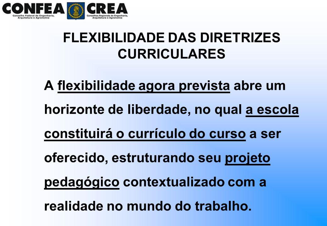 A flexibilidade agora prevista abre um horizonte de liberdade, no qual a escola constituirá o currículo do curso a ser oferecido, estruturando seu pro