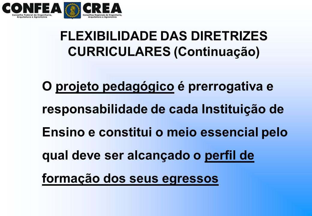 O projeto pedagógico é prerrogativa e responsabilidade de cada Instituição de Ensino e constitui o meio essencial pelo qual deve ser alcançado o perfi