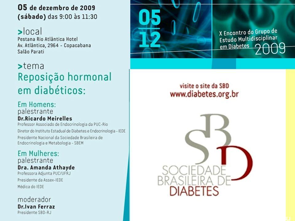 Amanda Athayde DEFA-SBEM, IEDE, PUC & UFRJ Reposição Hormonal em Diabéticas
