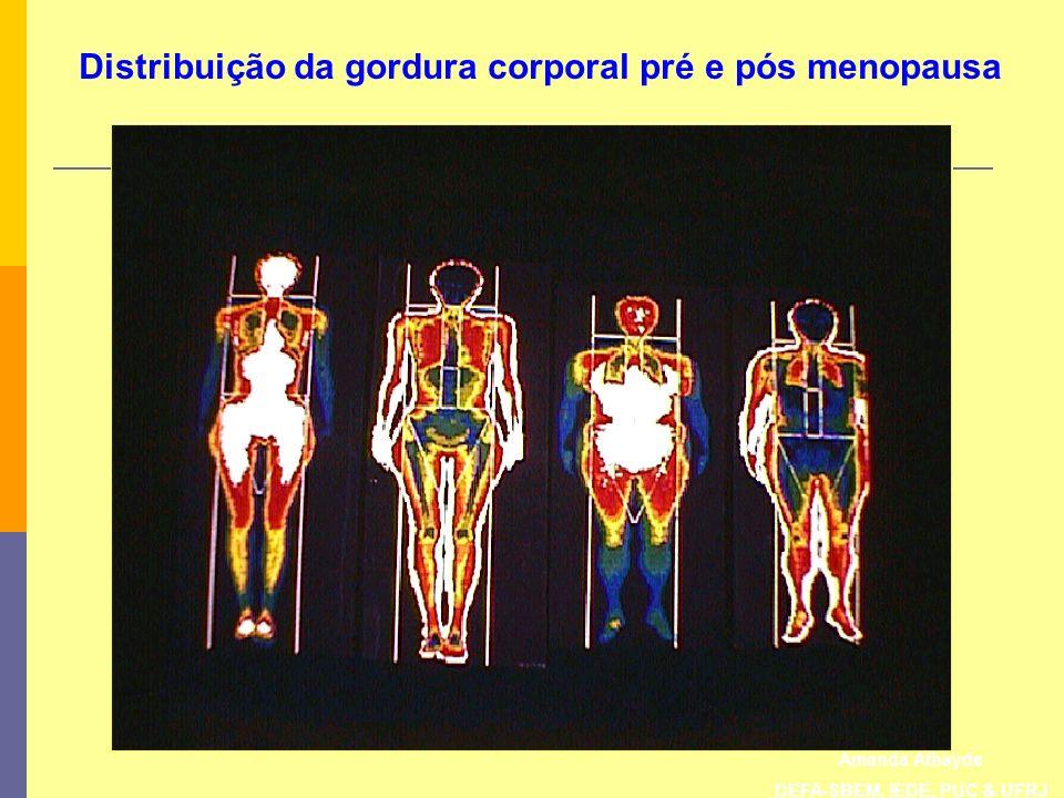 Amanda Athayde DEFA-SBEM, IEDE, PUC & UFRJ Distribuição da gordura corporal pré e pós menopausa