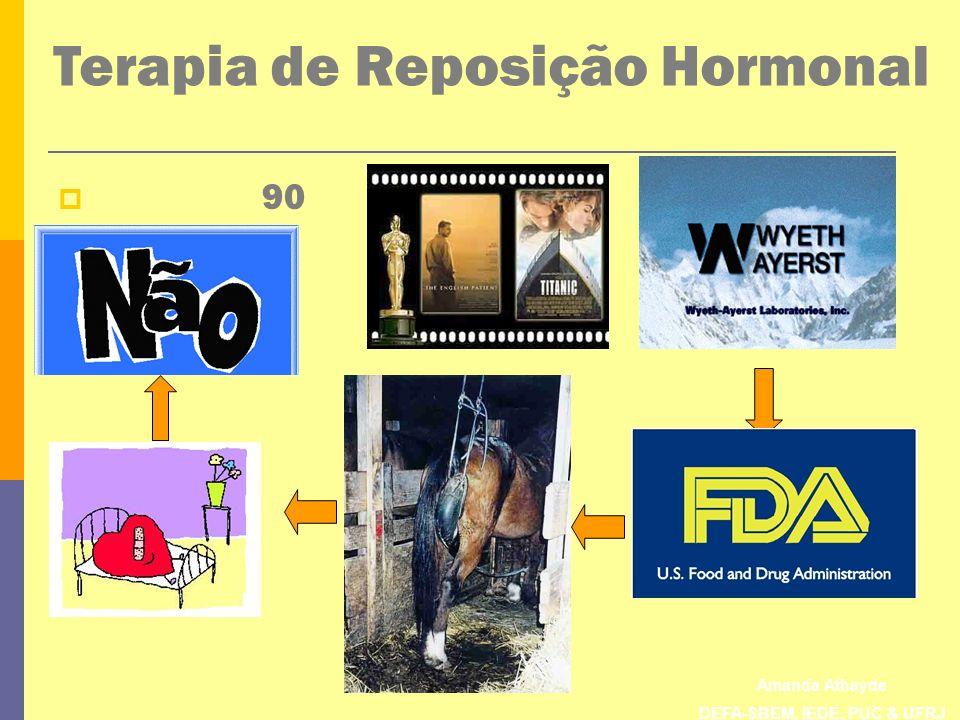 Amanda Athayde DEFA-SBEM, IEDE, PUC & UFRJ The Heart and Estrogen/progestin Replacement Study (HERS) Estudo duplo-cego, randomizado, controlado com placebo.