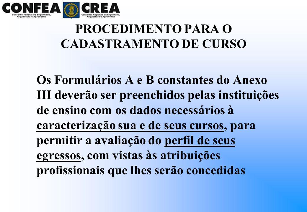Os Formulários A e B constantes do Anexo III deverão ser preenchidos pelas instituições de ensino com os dados necessários à caracterização sua e de s