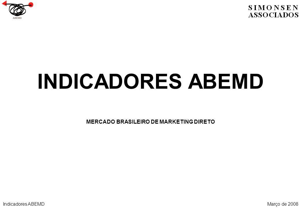 INDICADORES ABEMD MERCADO BRASILEIRO DE MARKETING DIRETO Indicadores ABEMDMarço de 2008