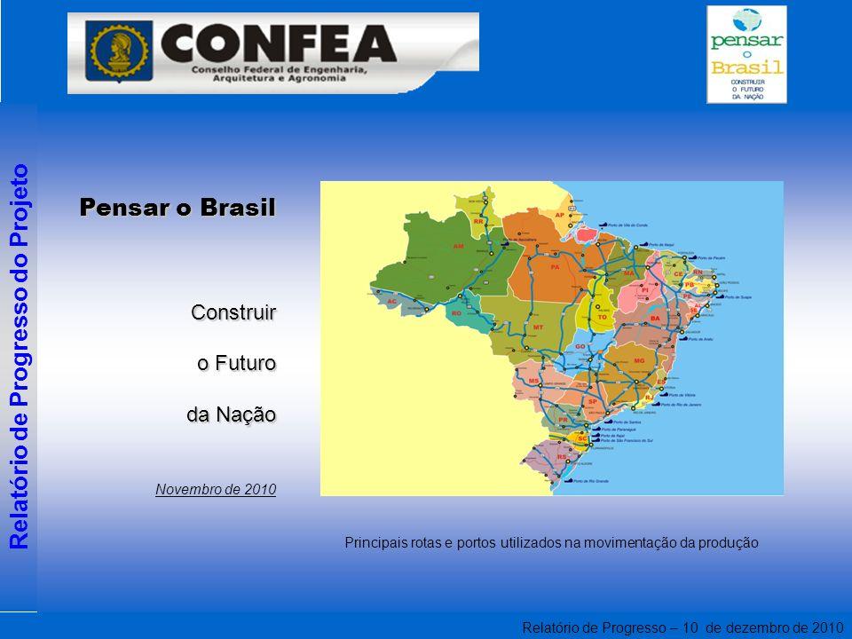 Relatório de Progresso – 10 de dezembro de 2010 Relatório de Progresso do Projeto Pensar o Brasil Construir o Futuro da Nação Novembro de 2010 Princip
