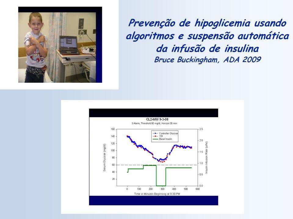 Prevenção de hipoglicemia usando algoritmos e suspensão automática da infusão de insulina Bruce Buckingham, ADA 2009