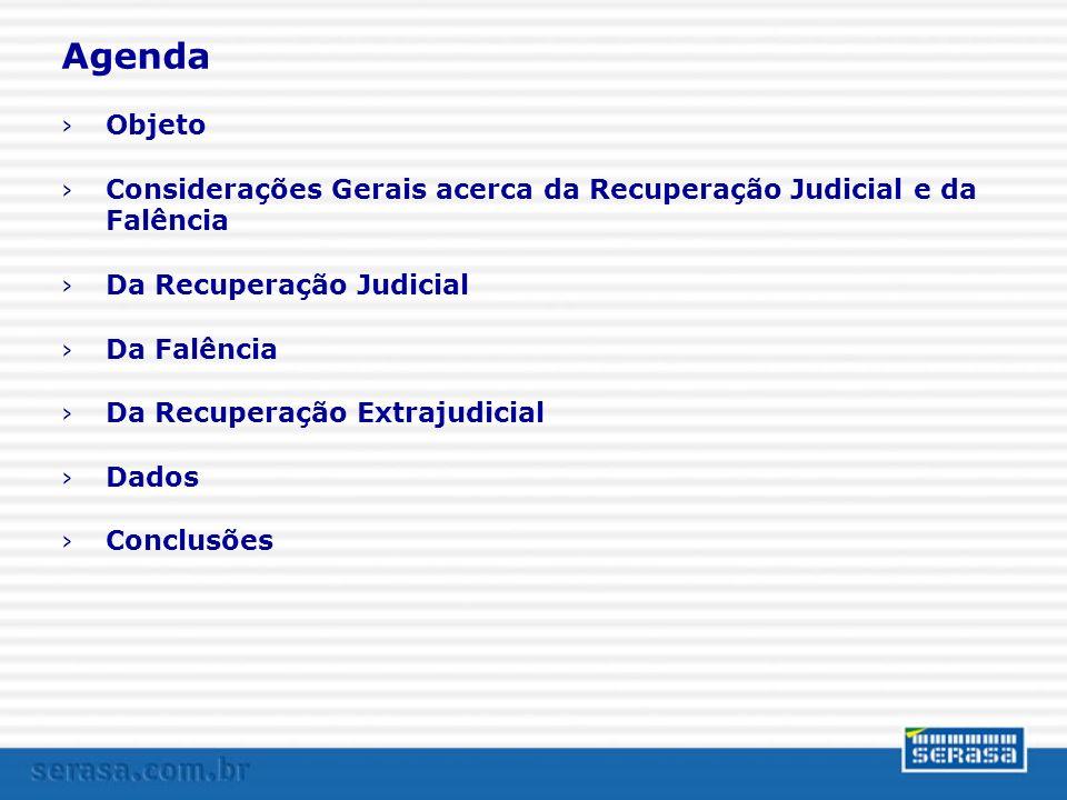 O novo diploma legal > Objeto > recuperação judicial > recuperação extrajudicial > falência > A quem se aplica: > empresário > sociedade empresária