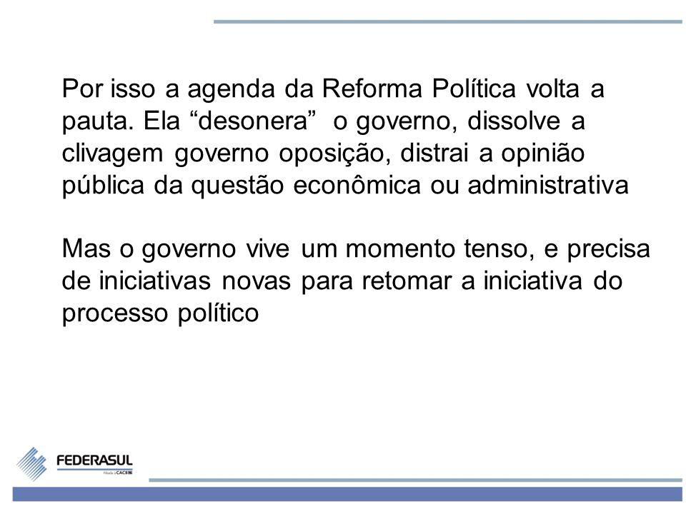 6 Por isso a agenda da Reforma Política volta a pauta.