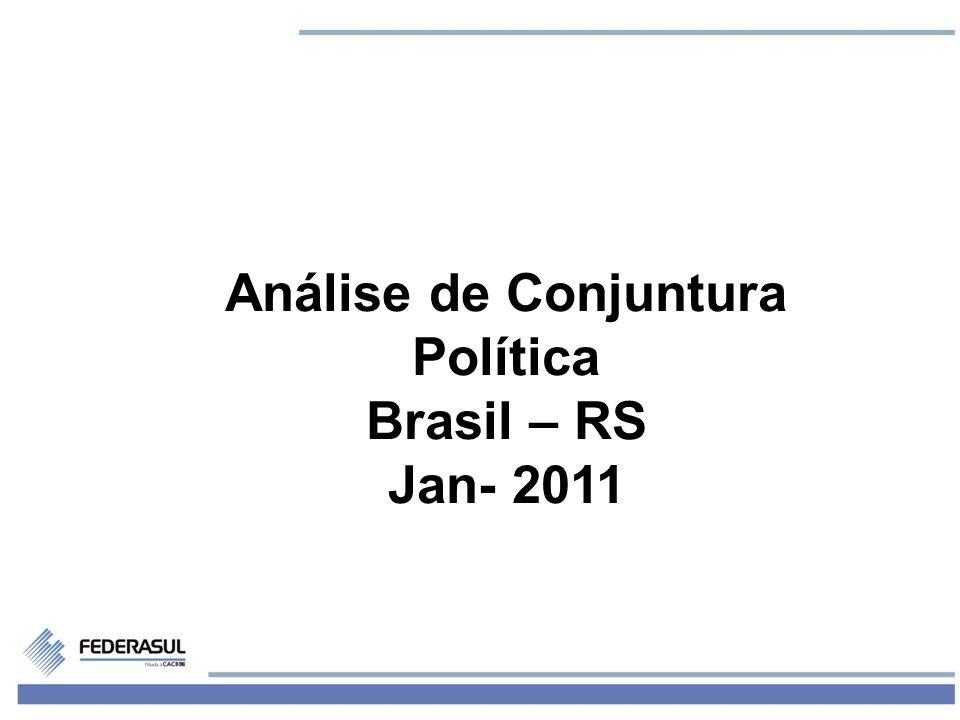 2 Governo Dilma: Primeiros Sinais Plano Político: -Desequilíbrio favorável ao PT no ministério - Avanço do PT no segundo escalão - Insatisfação no PMDB - Insatisfação base PT Camara
