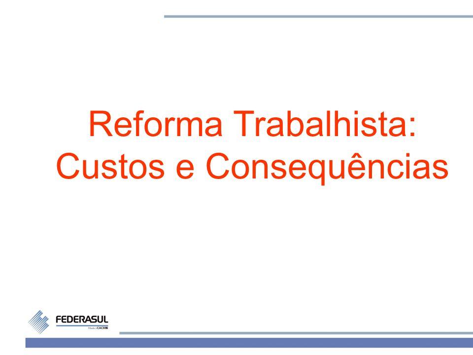 1 Reforma Trabalhista: Custos e Consequências