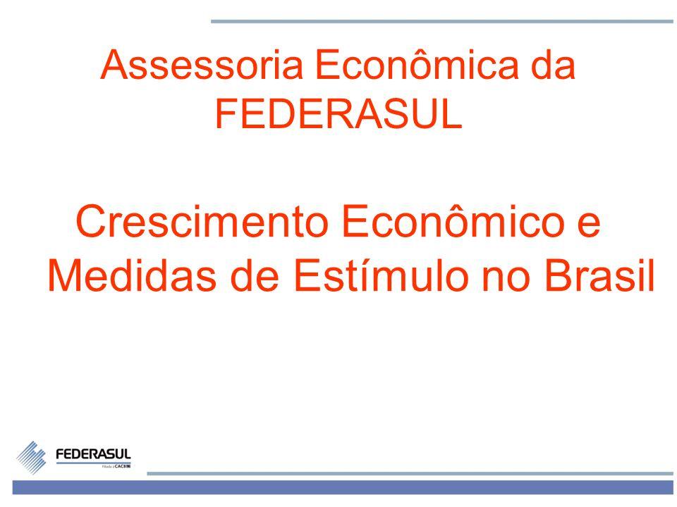 1 Assessoria Econômica da FEDERASUL Crescimento Econômico e Medidas de Estímulo no Brasil
