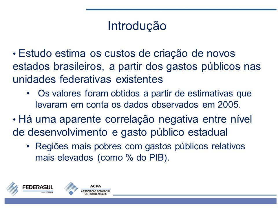 3 Gastos públicos estaduais, PIBs regionais e populações das regiões brasileiras – 2005 Fontes: STN e Instituto Brasileiro de Geografia e Estatística (IBGE).