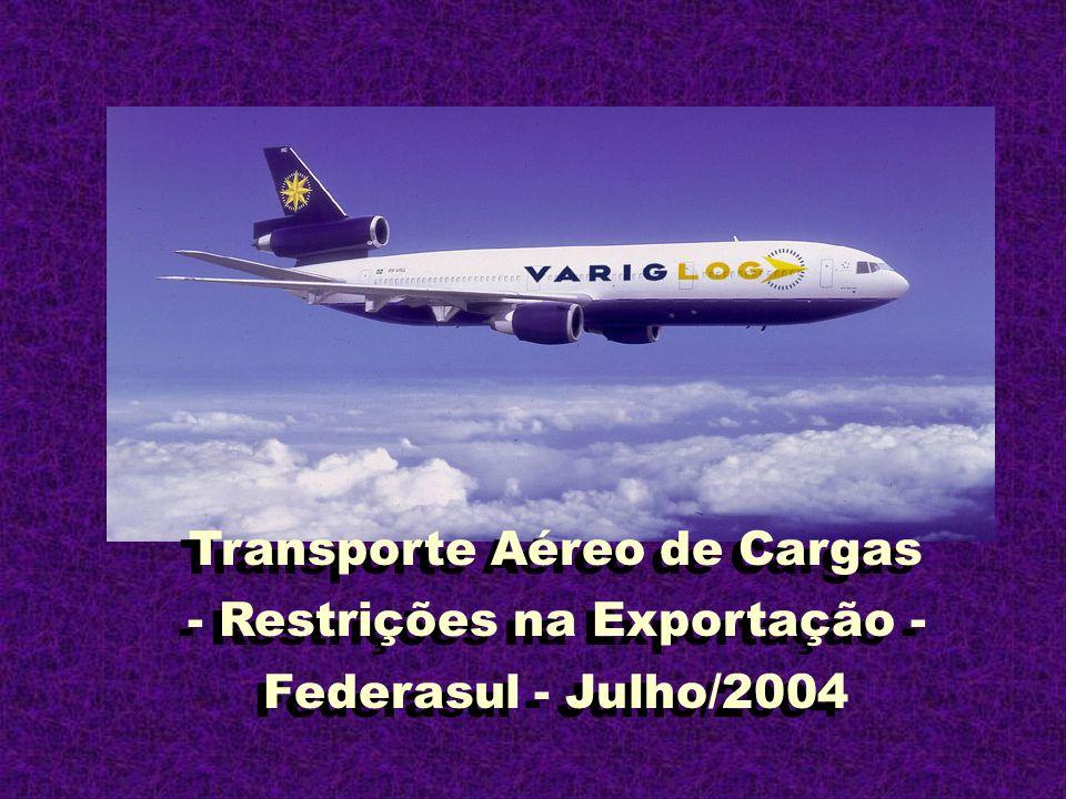 Transporte Aéreo de Cargas - Restrições na Exportação - Federasul - Julho/2004 Transporte Aéreo de Cargas - Restrições na Exportação - Federasul - Jul