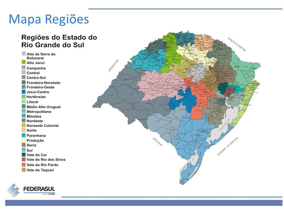 Mapa Regiões