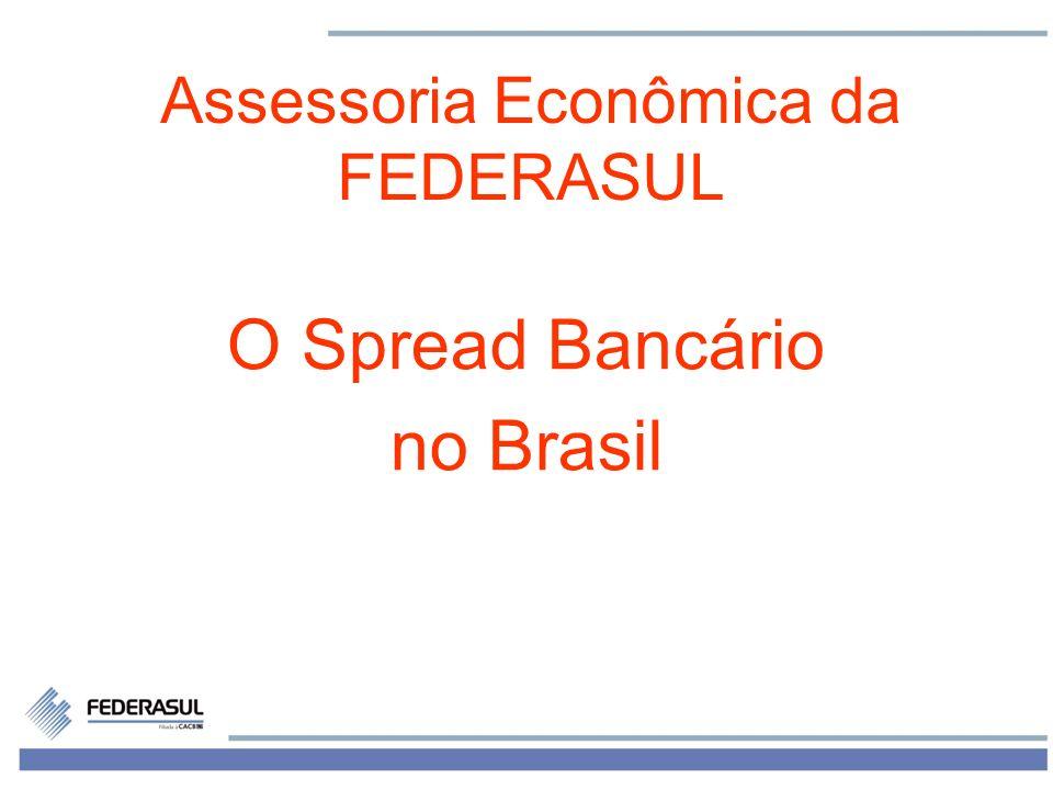 Spread Bancário no Brasil Selic está em queda desde o 2º semestre de 2011 –teve a 5ª queda consecutiva em março de 2012, declinando para 9,75% ao ano Expectativa de queda para 9% ao ano nesta semana.
