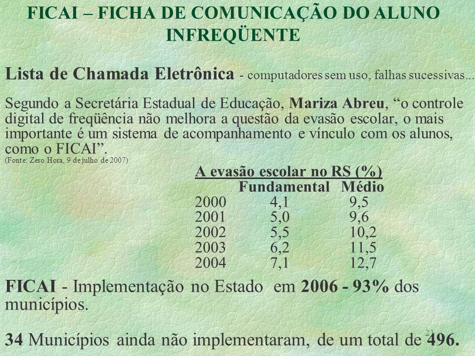 21 Lista de Chamada Eletrônica - computadores sem uso, falhas sucessivas... Segundo a Secretária Estadual de Educação, Mariza Abreu, o controle digita
