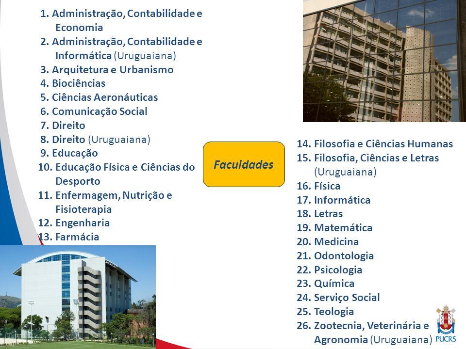 Institutos De Cultura: Hispânica (ICH) Japonesa (ICJ) Musical(ICM) De Pesquisa: Bioética (IB) Cérebro (INSCER) Geriatria e Gerontologia (IGG) Meio Ambiente (IMA) Pesquisas Biomédicas (IPB) Pesquisas Científicas e Tecnológicas (IDEIA) Toxicologia e Farmacologia (INTOX)