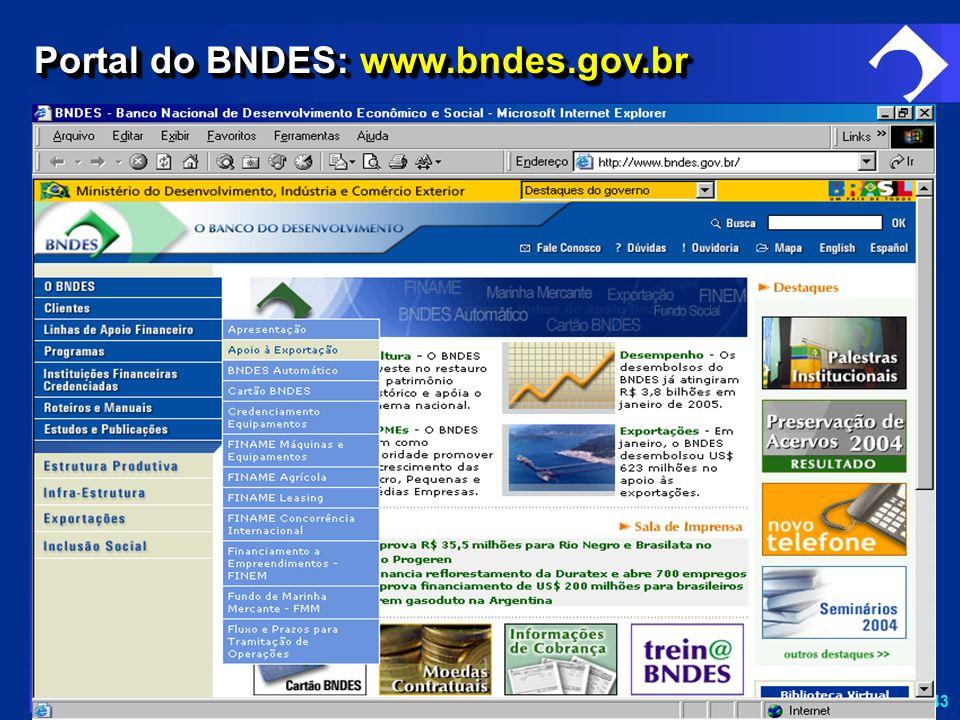SD-43 Portal do BNDES: www.bndes.gov.br