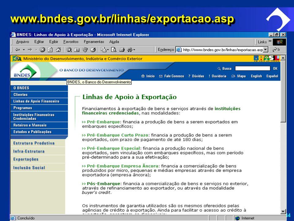 SD-44 www.bndes.gov.br/linhas/exportacao.aspwww.bndes.gov.br/linhas/exportacao.asp
