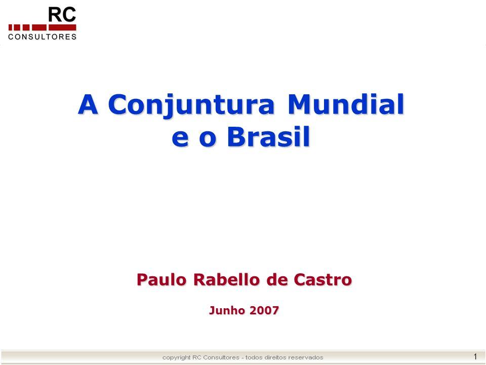 1 Paulo Rabello de Castro Junho 2007 A Conjuntura Mundial e o Brasil