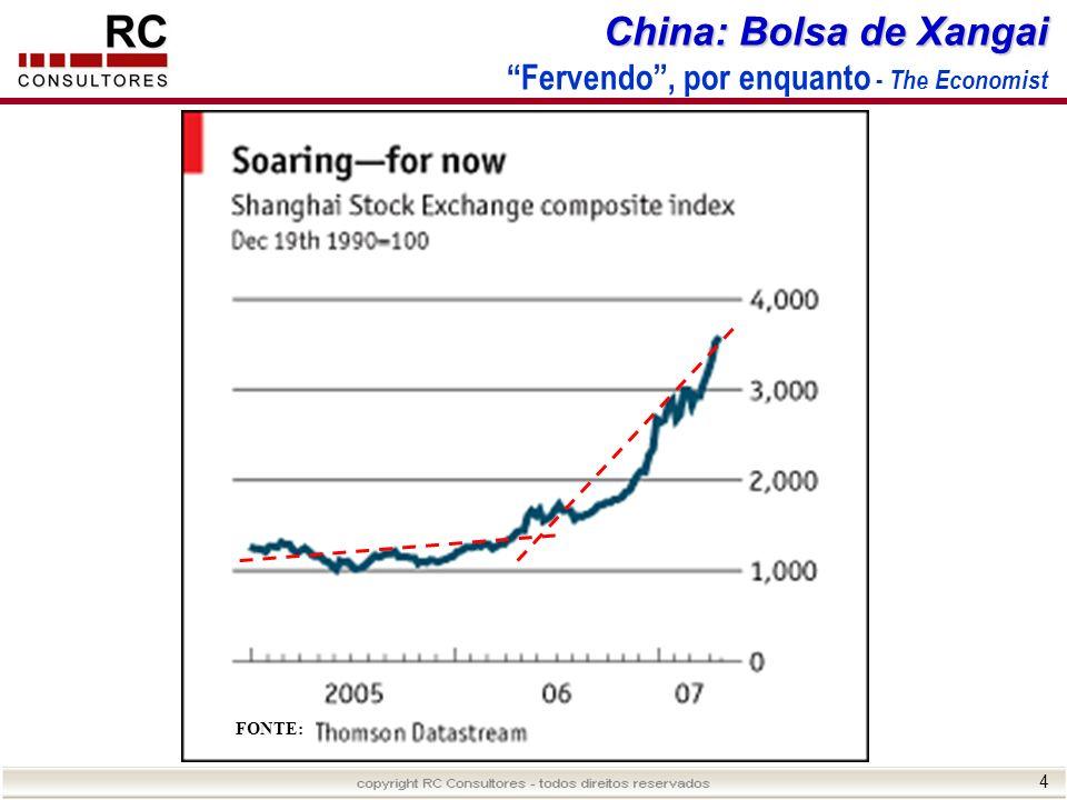 4 China: Bolsa de Xangai China: Bolsa de Xangai Fervendo, por enquanto - The Economist FONTE: