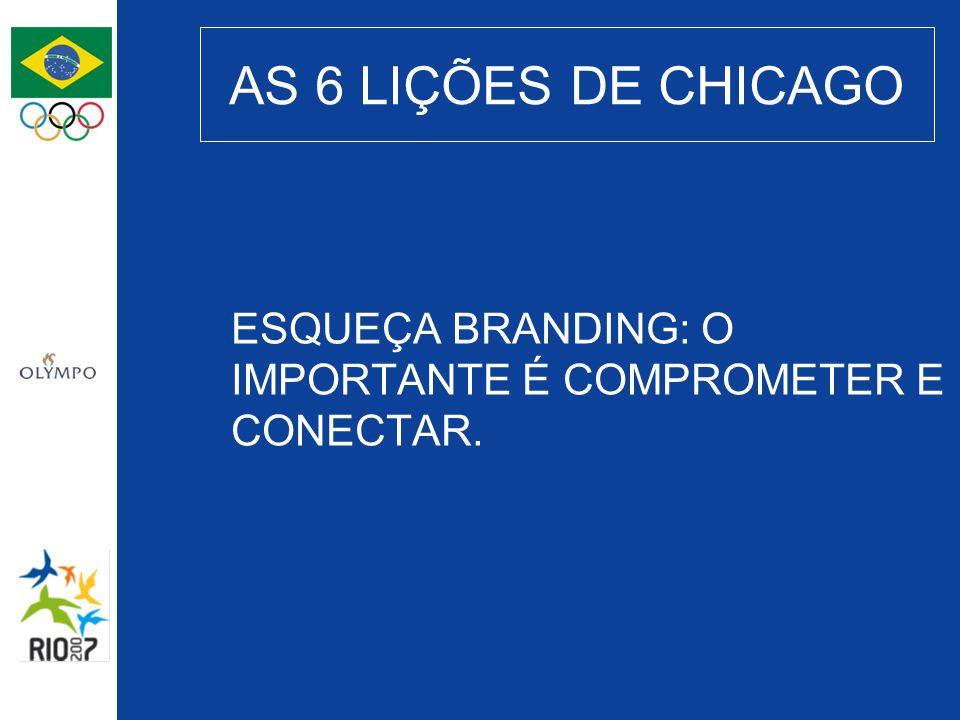 AS 6 LIÇÕES DE CHICAGO ESQUEÇA BRANDING: O IMPORTANTE É COMPROMETER E CONECTAR.